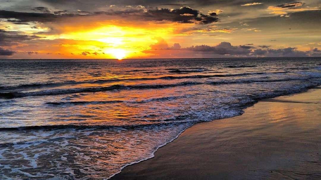 Sunset over Bang Niang Beach
