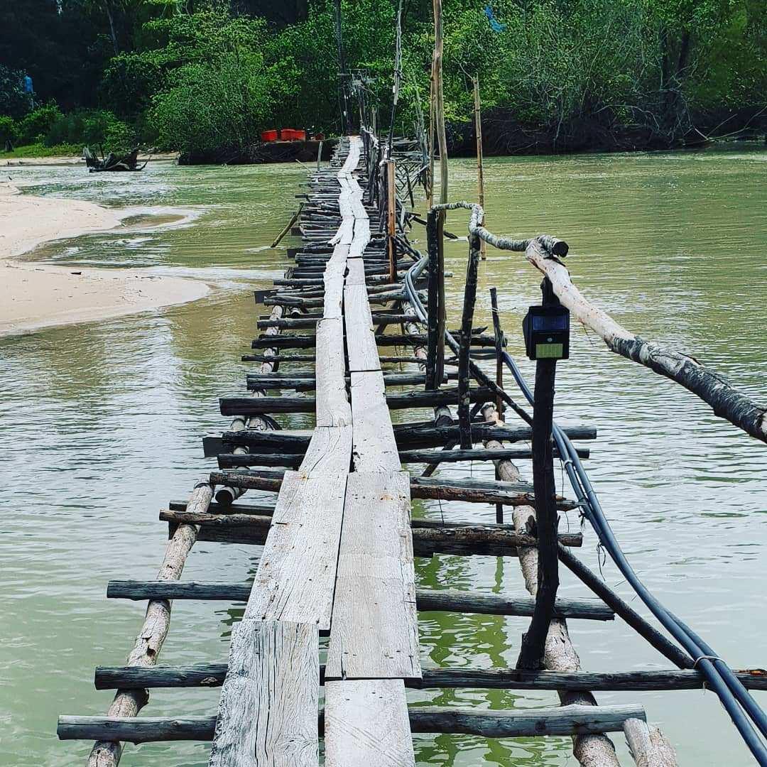 Walkway on Pak Weep Beach