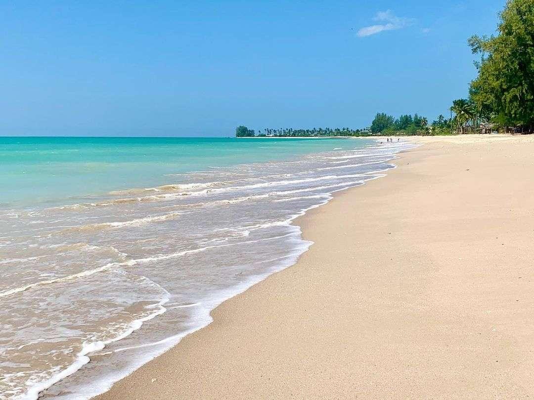 The beautiful and quiet Bang Sak Beach in Khao Lak