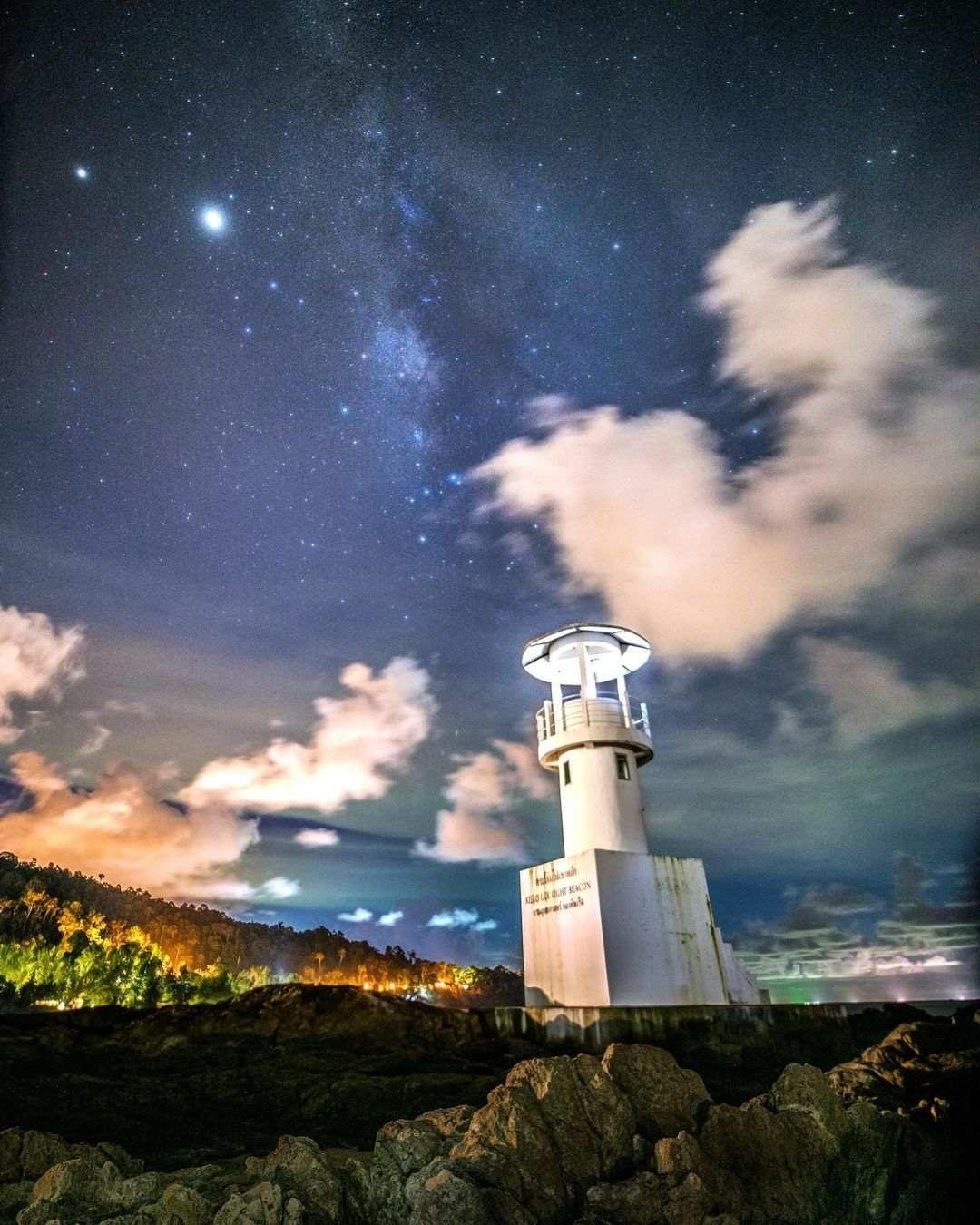 Lighthouse at Nang Thong Beach in Khao Lak