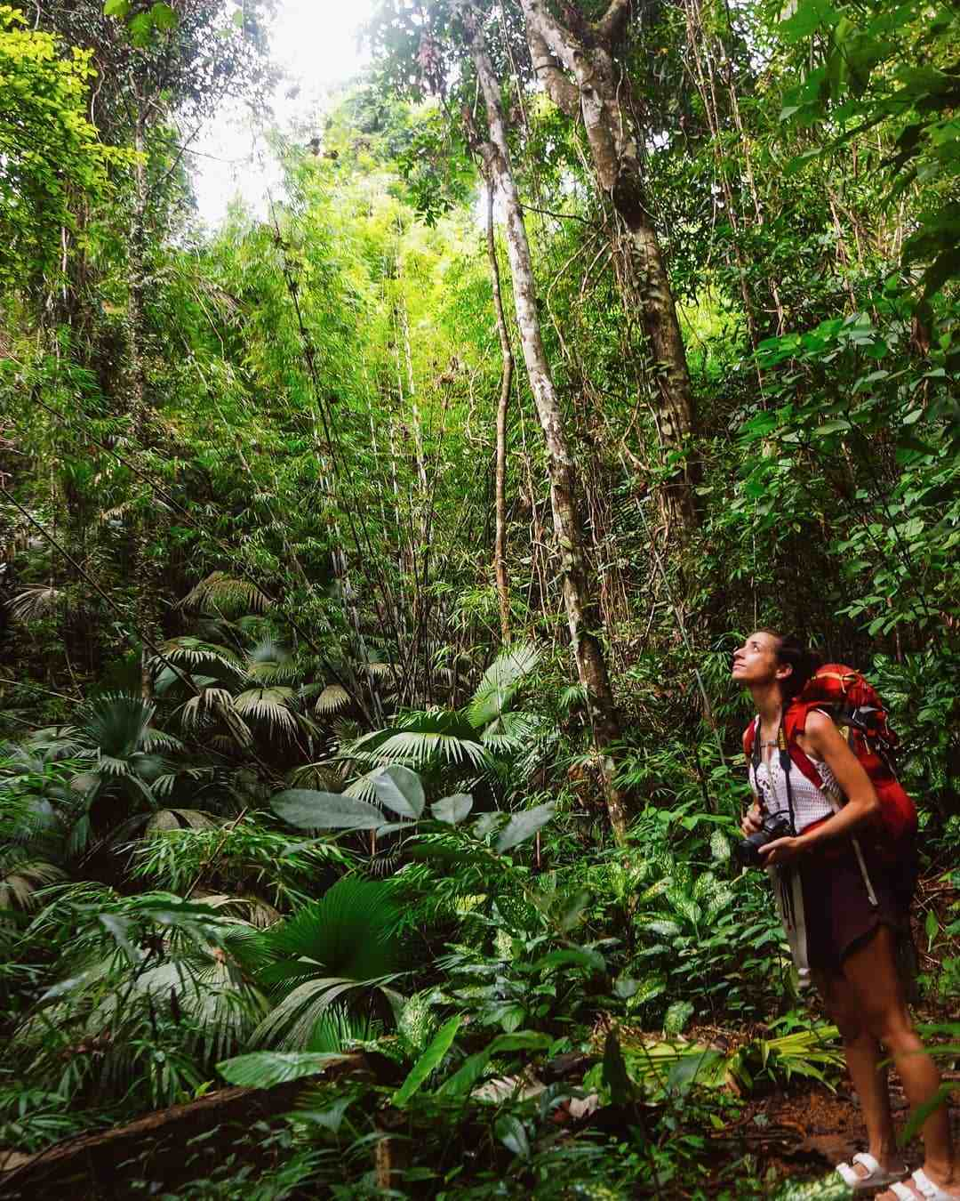 Meisje in het Sirinat National Park op Phuket, Thailand