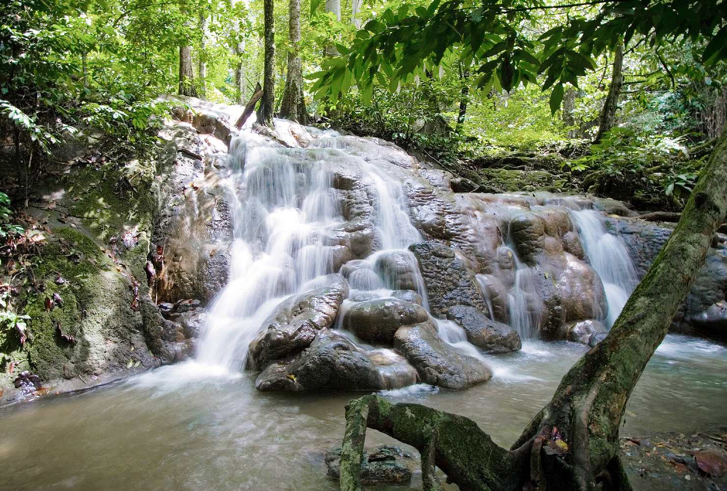 Phang Nga Town, waterfall in Manora forest park