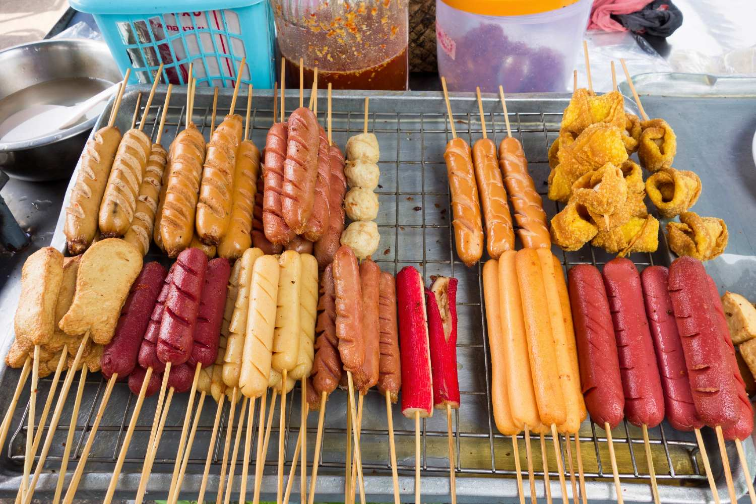 Satay on the market in Phang Nga Town