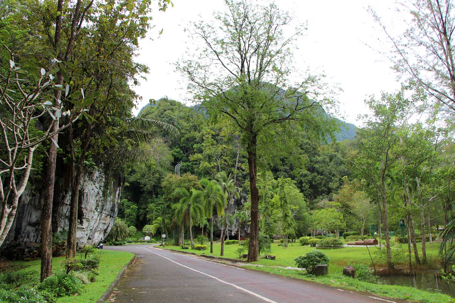 beautiful park in the Phang Nga Town