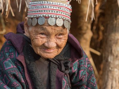Old Woman Of The Akkha Mountain Tribe In Thailand