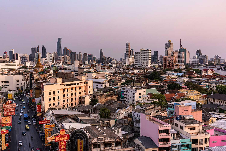 Bangkok Skyline gezien vanaf China Town