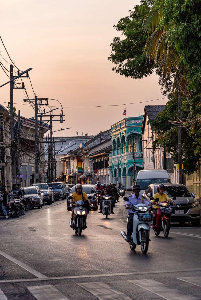 Verkeer in Phuket Old Town