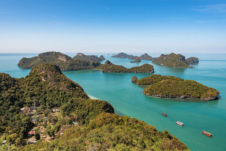 Mu Ko Ang Thong Marine National Park gezien vanaf de Koh Tua Wa Lap viewpoint