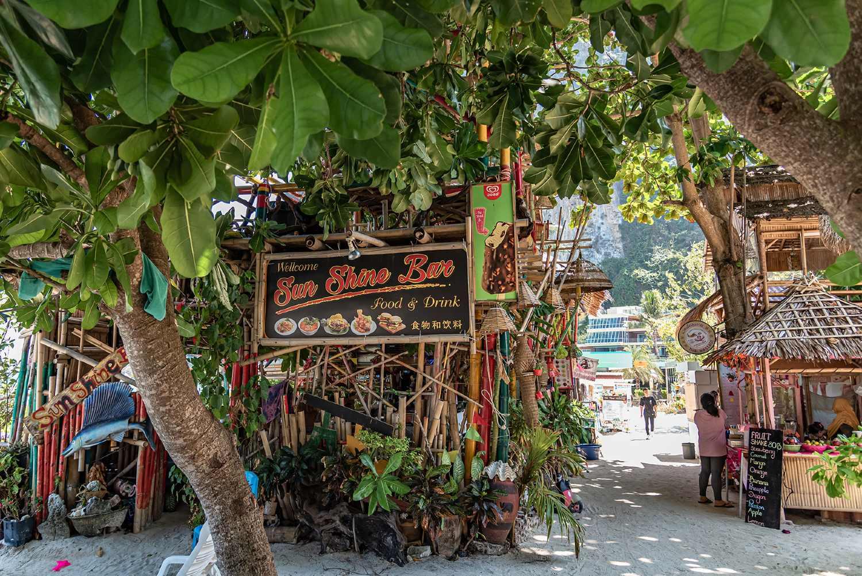 Bars op Koh Phi Phi in Thailand
