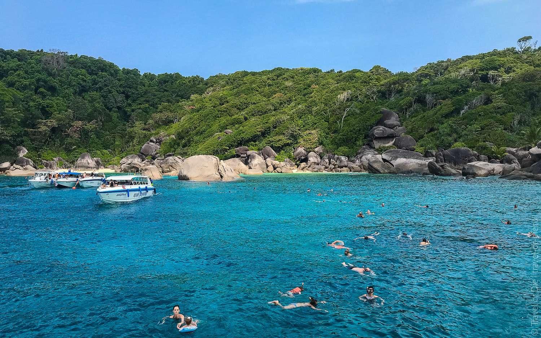 snorkelen bij Miang Beach, Similan Eilanden