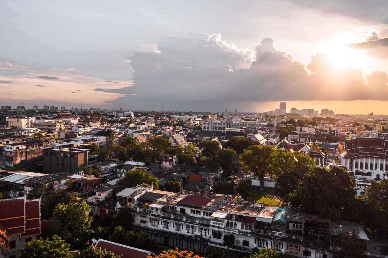View from Wat Saket (Phu Khao Thong) in Bangkok