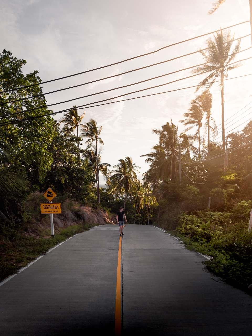 A road on Koh Tao in Thailand