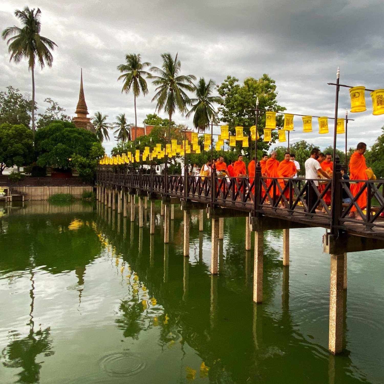 Wat Traphang Thong in Sukothai, Thailand
