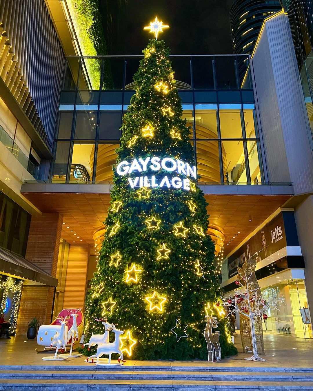 Kerstversiering bij Gaysorn Village in Bangkok tijdens de kerstdagen van 2020