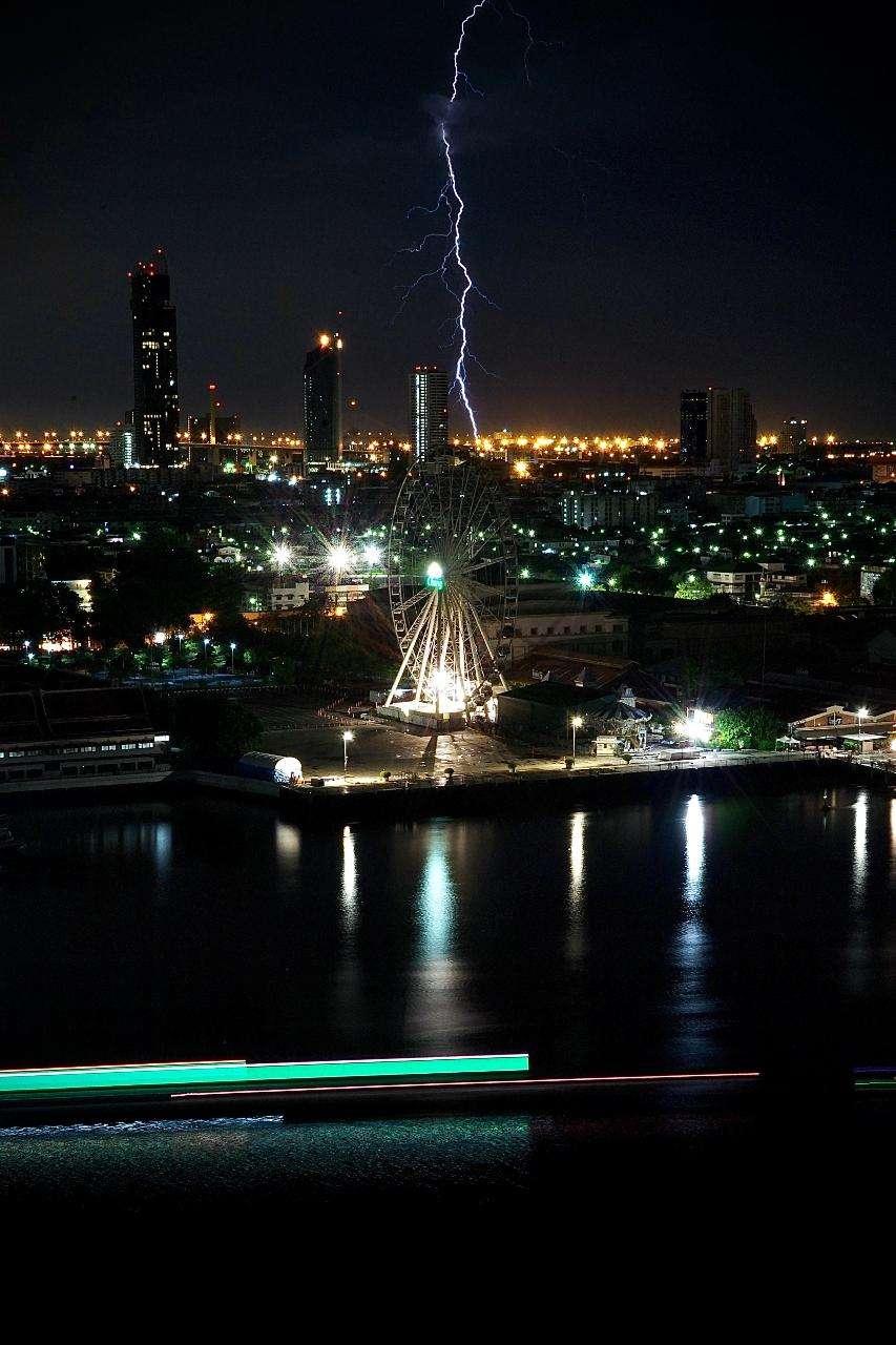The Chao Phraya River in Bangkok, Thailand
