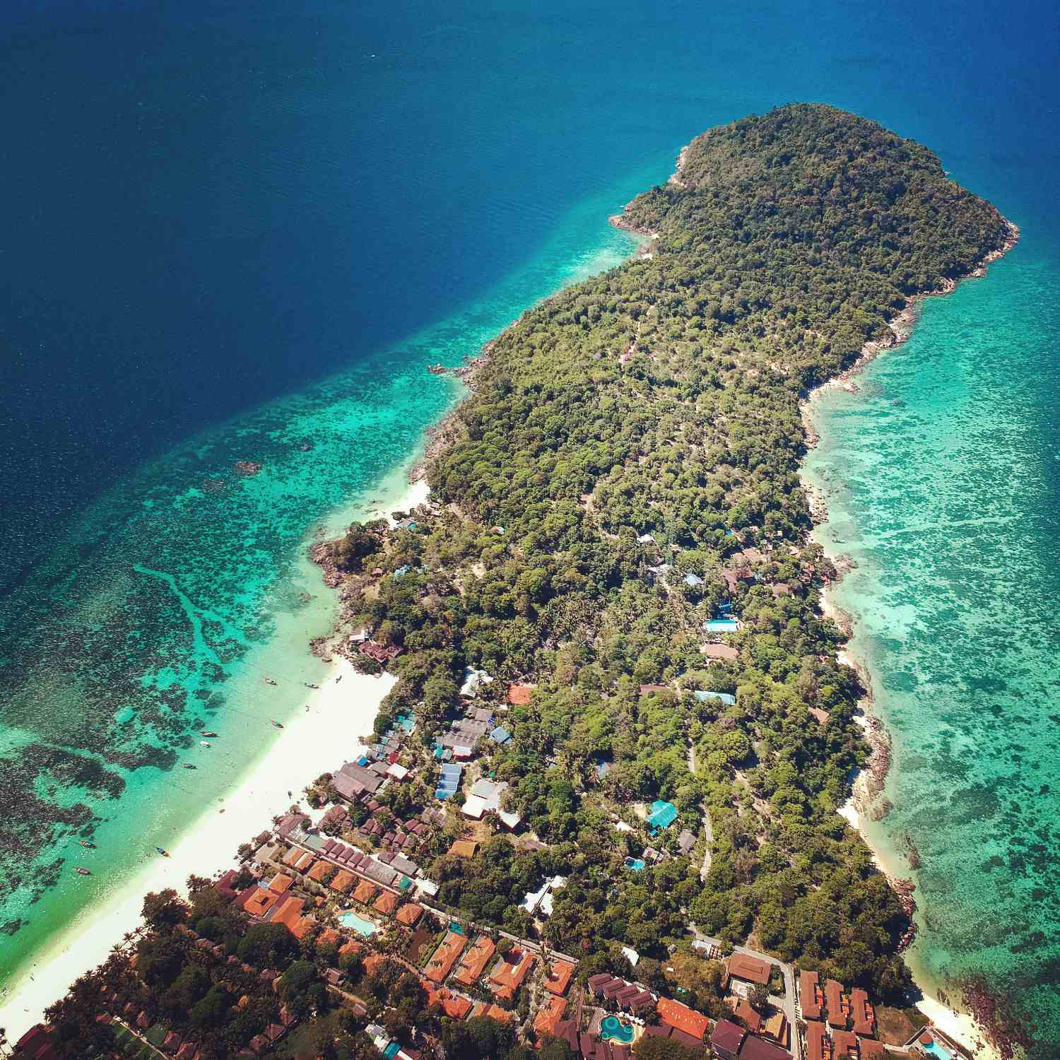 Koh Lipe seen with a drone