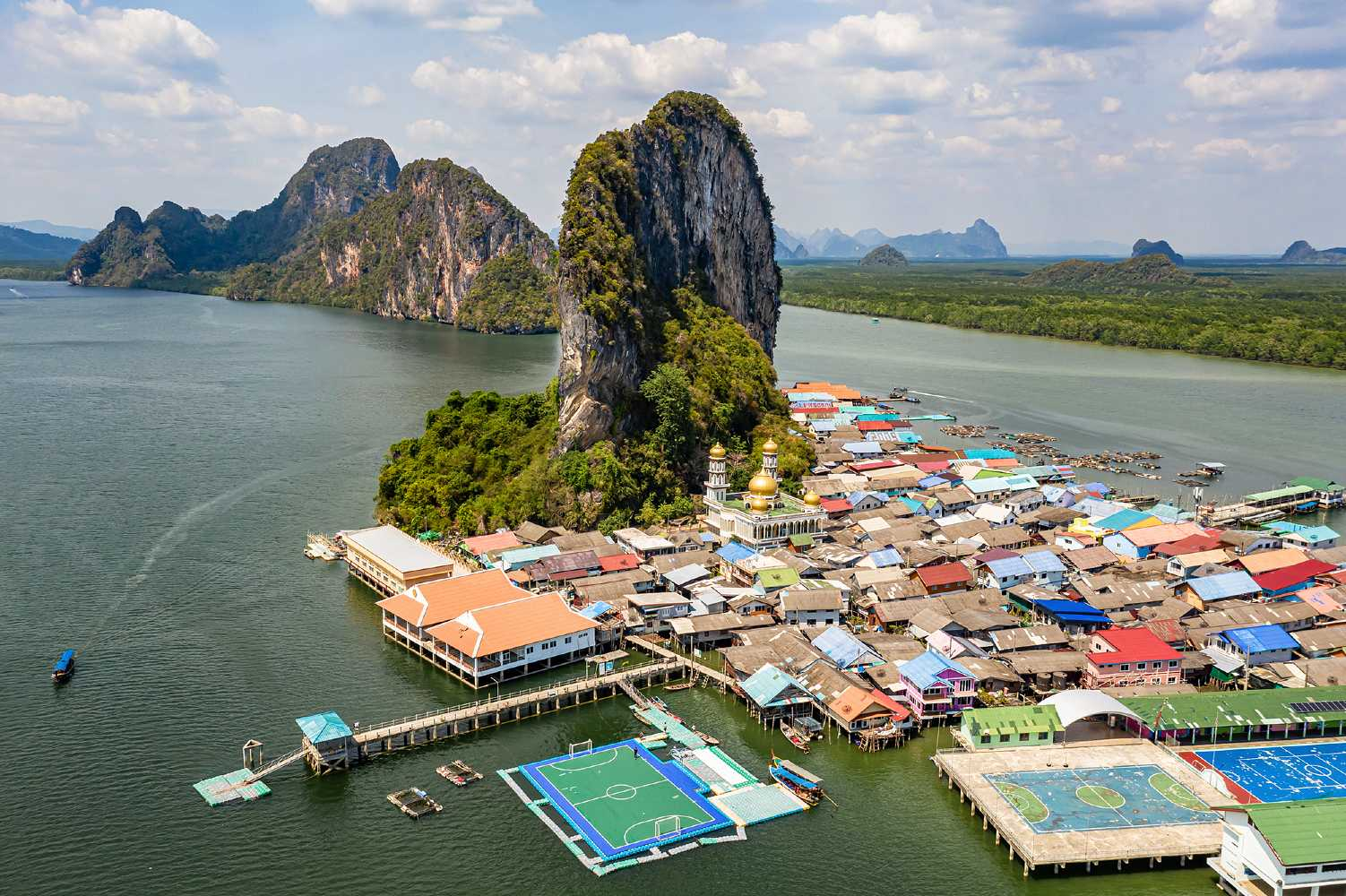 Drone photo Koh Panyee Muslim Village, Phang Nga