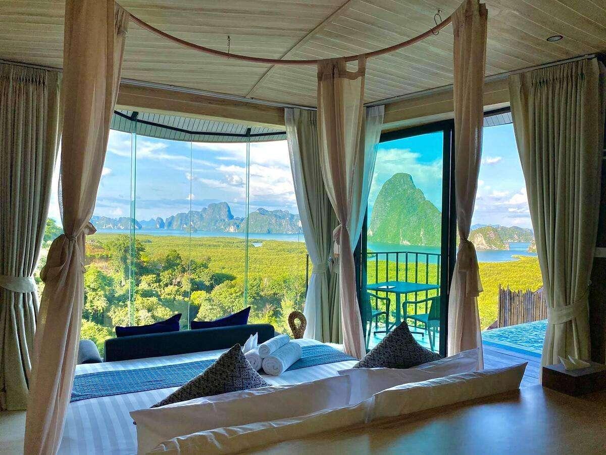 Room overlooking Phang Nga Bay