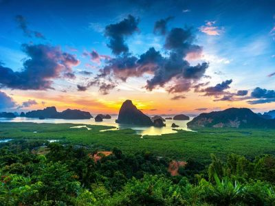 Views Of Phang Nga Bay From The Samet Nangshe Viewpoint