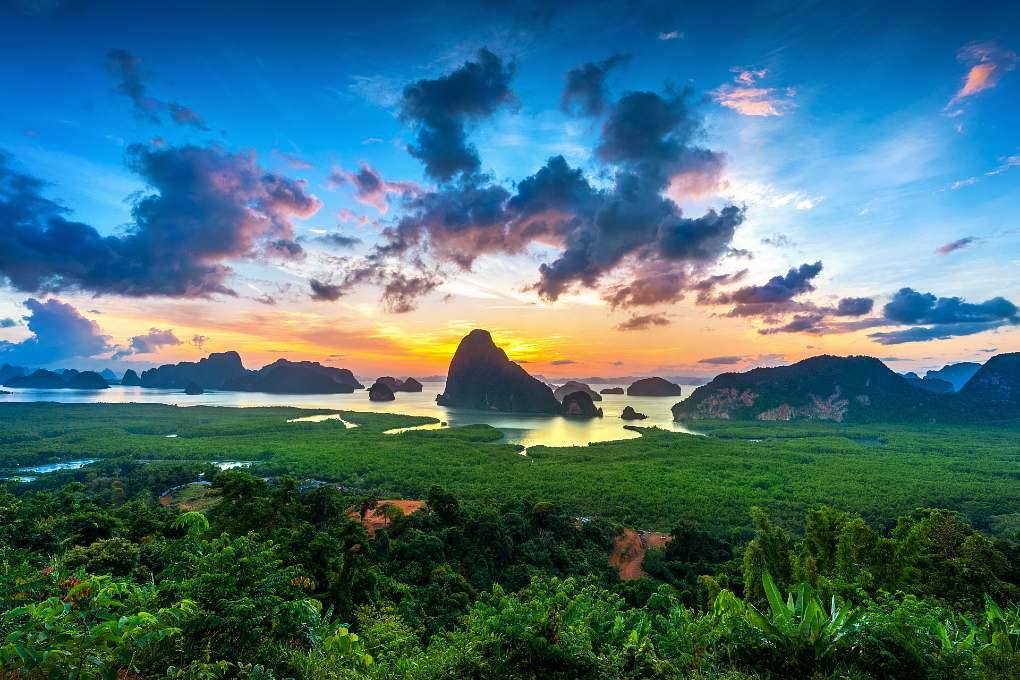 Views of Phang Nga Bay from the Samet Nangshe Viewpoint