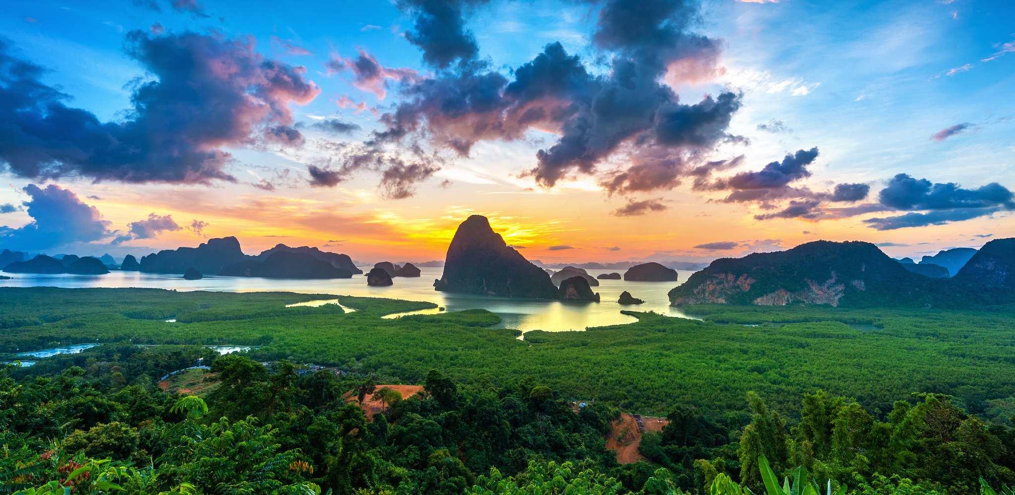 View of Phang Nga Bay from the Samet Nangshe Viewpoint