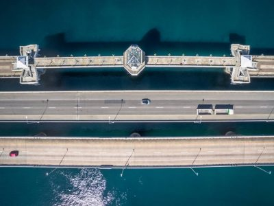 Phuket's Sarasin Bridge Seen From The Air With A Drone