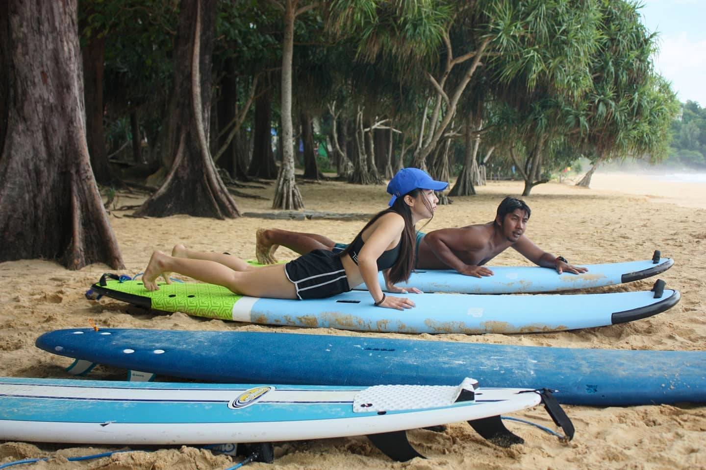 Ohm's Surfboard Rental in Nai Thon Beach op Phuket