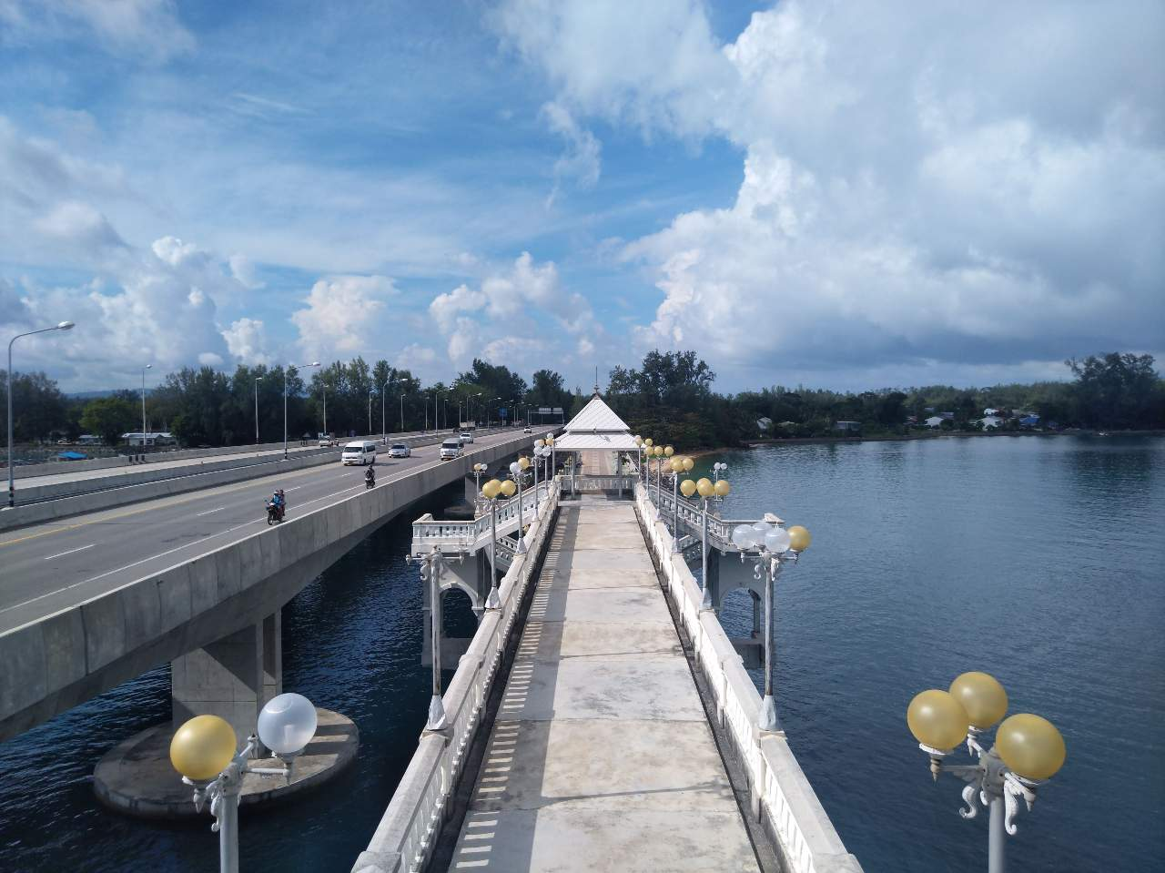 The elevated section of the old Sarasin Bridge on Phuket