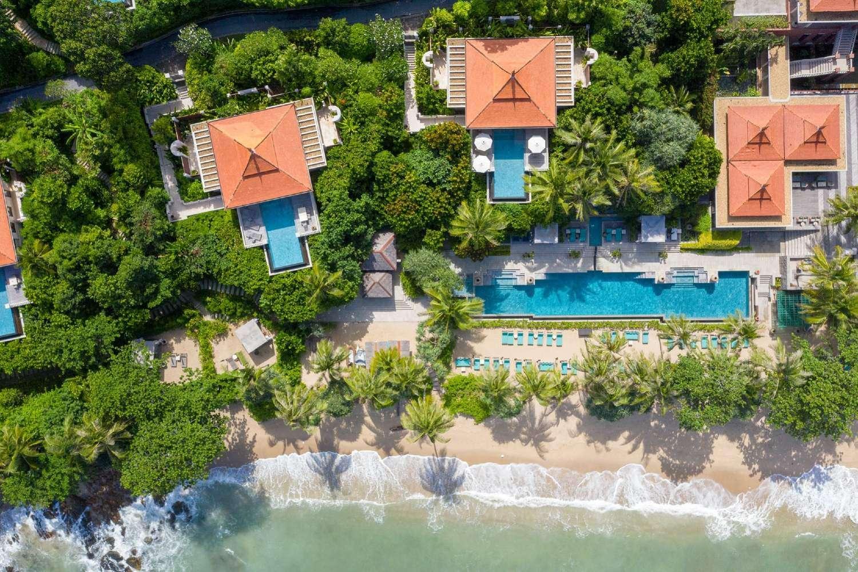 Trisara op Phuket vanaf de lucht gezien