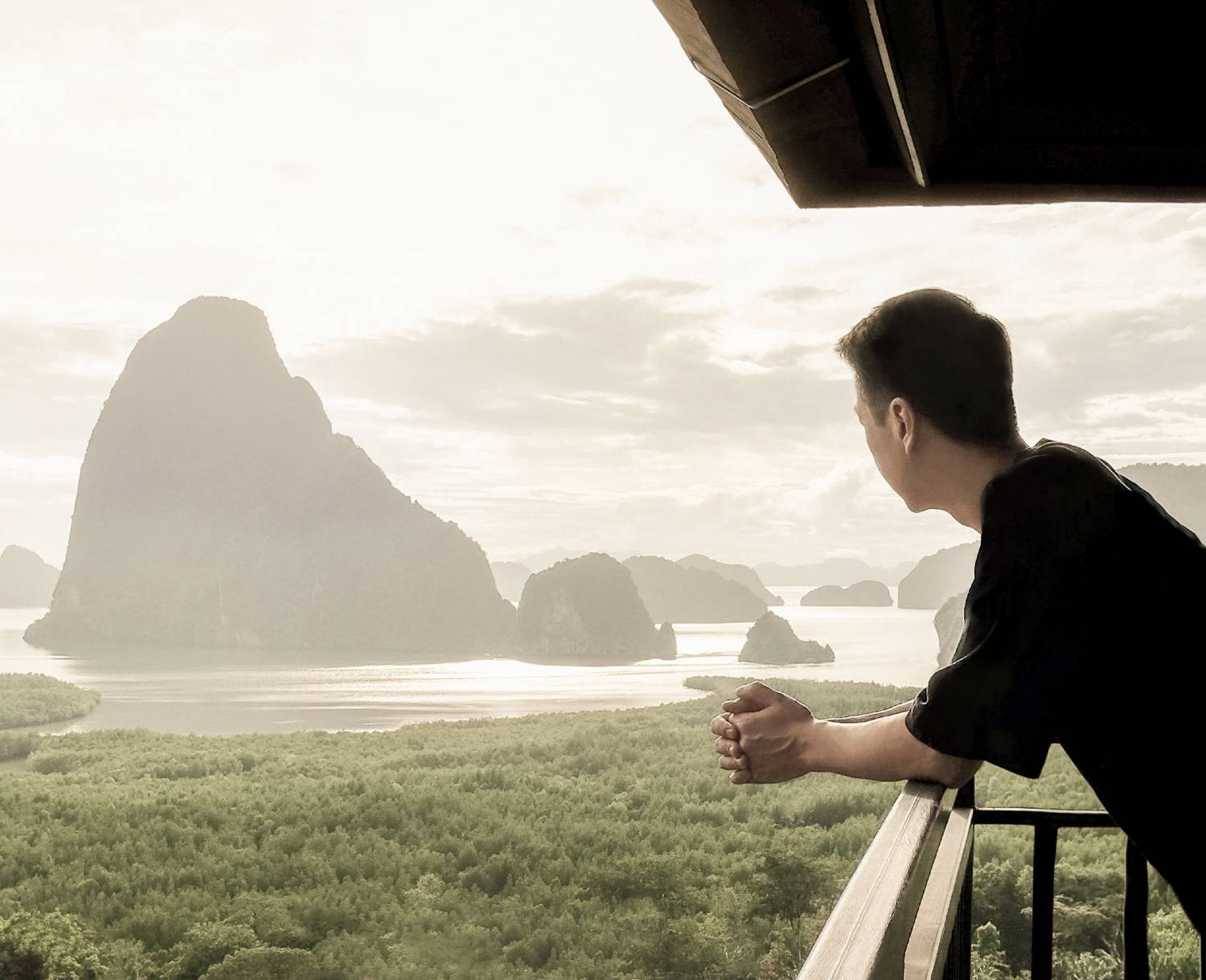 The bay of Phang Nga in the southwest of Thailand
