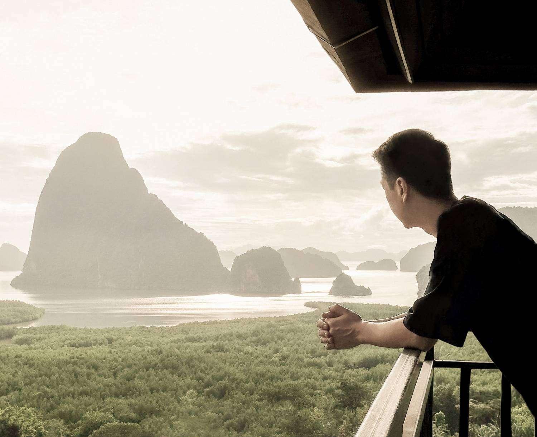 De baai van Phang Nga in het zuidwesten van Thailand