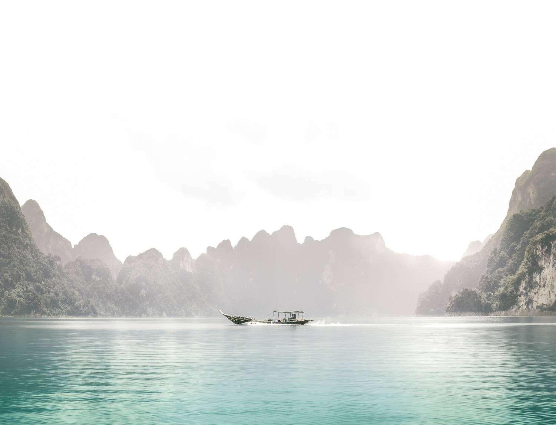 Cheow Lan Lake in the Khao Sok National Park