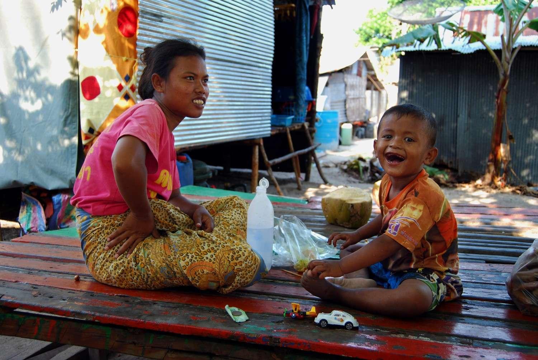 Smiling child of the Urak Lawoi on Koh Lipe