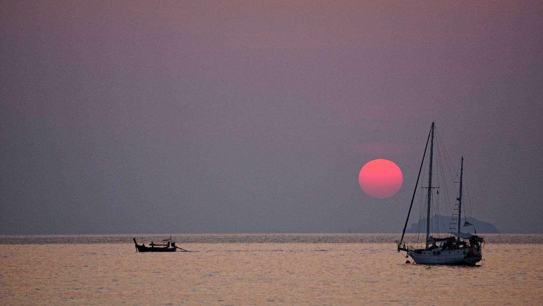 Zonsondergang gezien vanaf Koh Phi Phi
