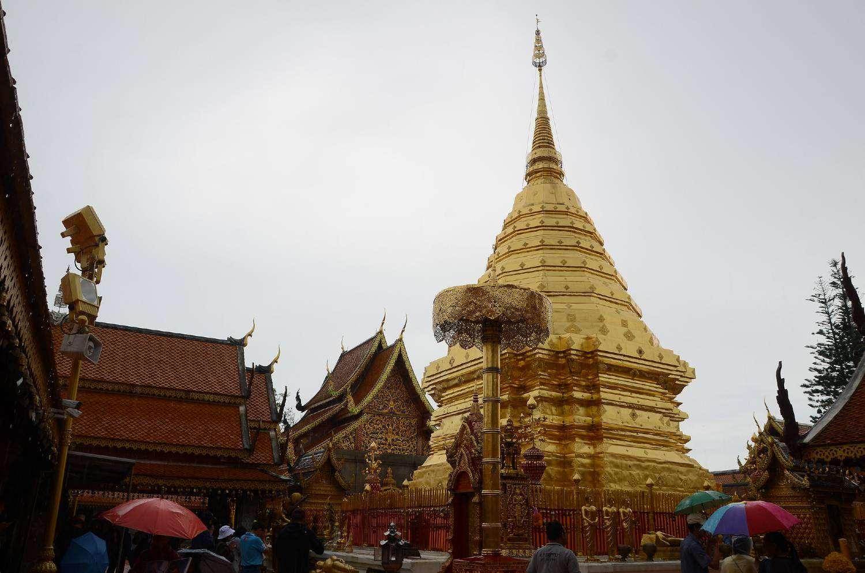 De Wat Phrathat Doi Suthep tempel in Chiang Mai