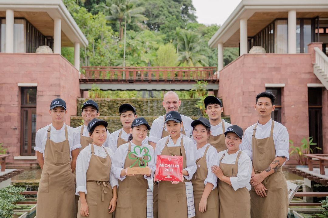 2021 Michelin star for Pru Restaurant on Phuket