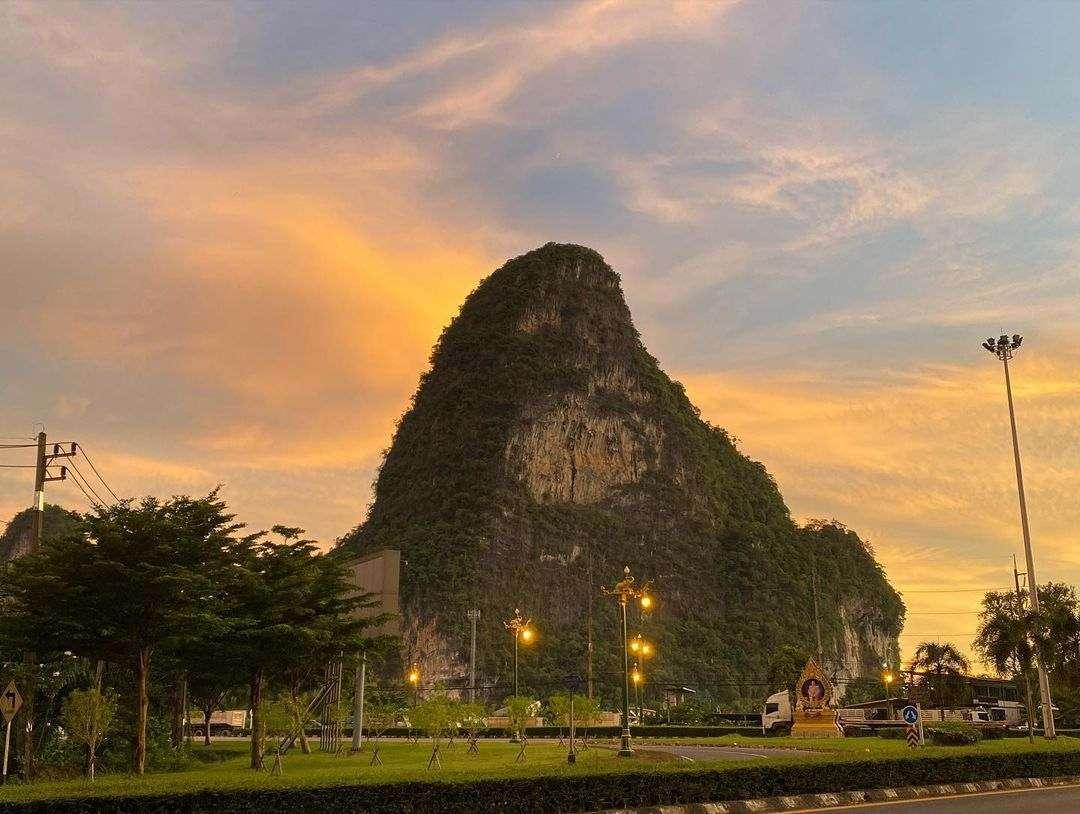 Chang Mountain in Phang Nga Town, Thailand
