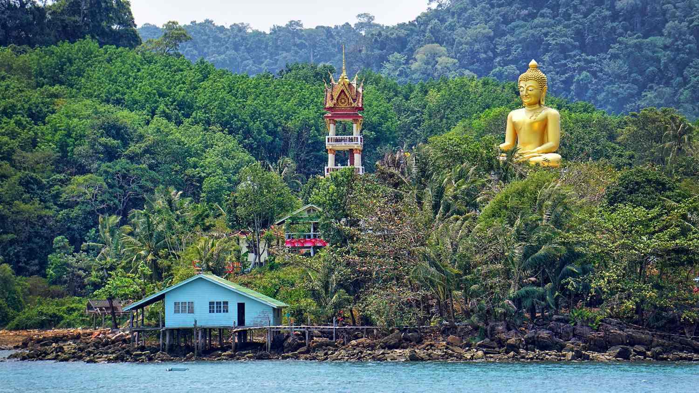 Aankomt op Koh Kood in Thailand