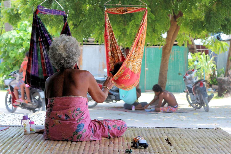 Old woman (descendant of the Urak Lawoi) on Koh Lipe