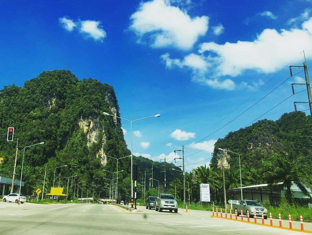 Highway in the province of Phang Nga