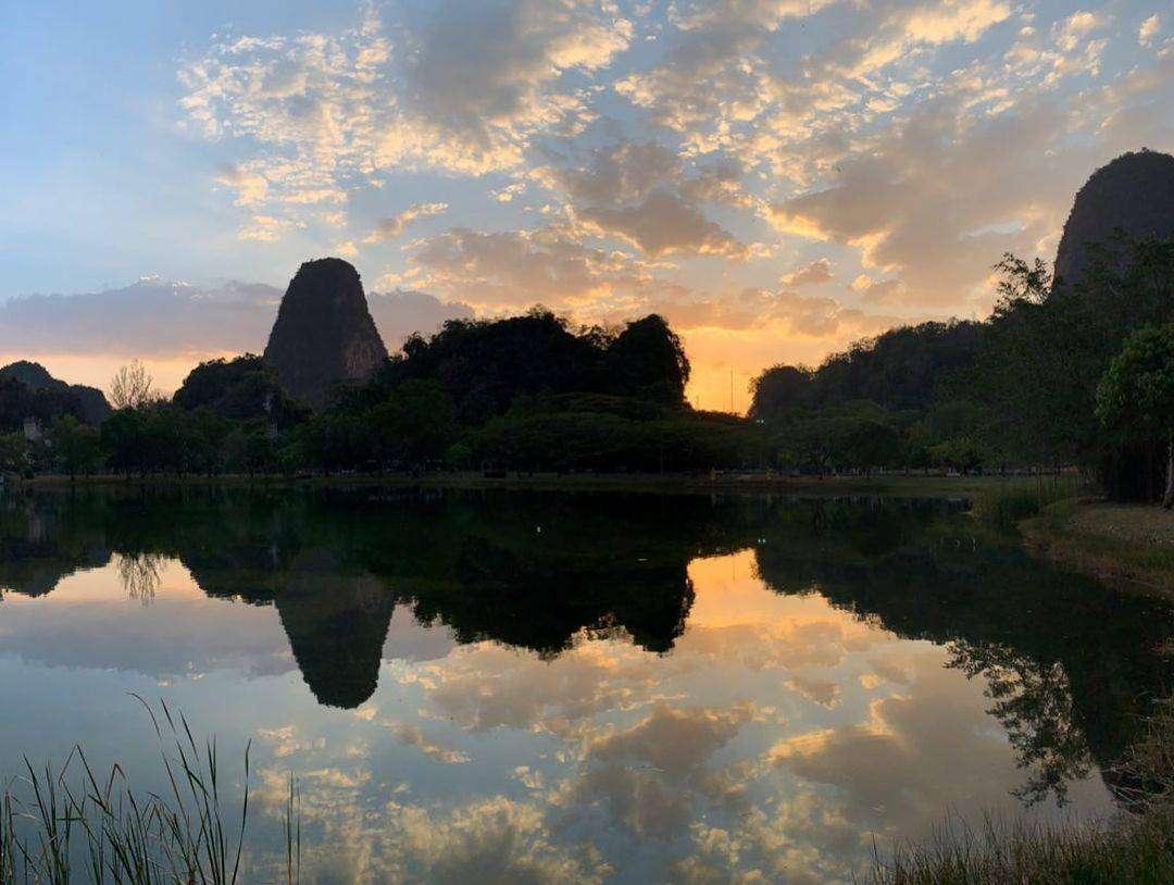 De omgeving van Phang Nga Town