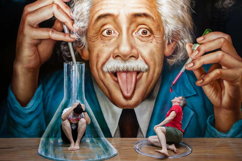 3D painting Einstein