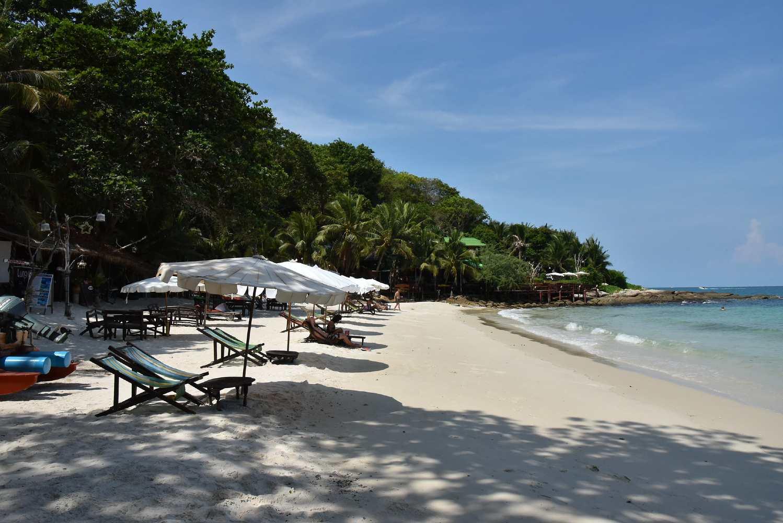 quiet beautiful beach on Koh Samet