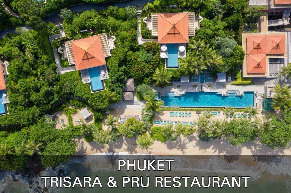 Lees hier meer over het superluxe Trisara en PRU Restaurant