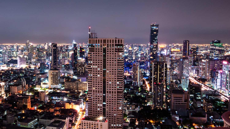 Bangkok's skyline seen from the Hangover Bar (Lebua)