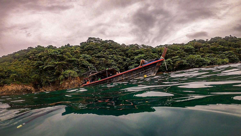 Longtail boat on Khao Lak