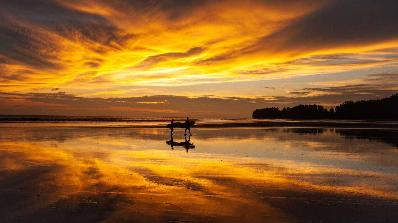 Sunset on Little White Beach on Khao Lak