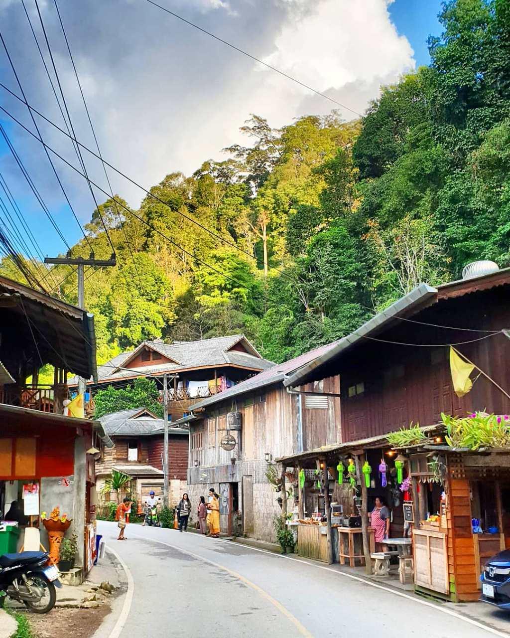 Mae Kham Pong een klein dorpje vlakbij Chiang Mai in Thailand