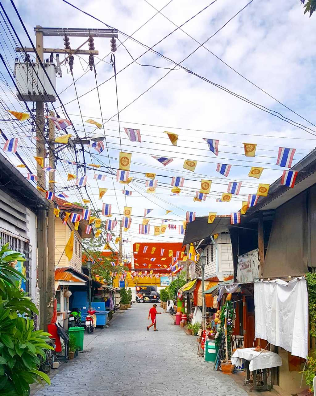 Een soi (straatje) in Bangkok