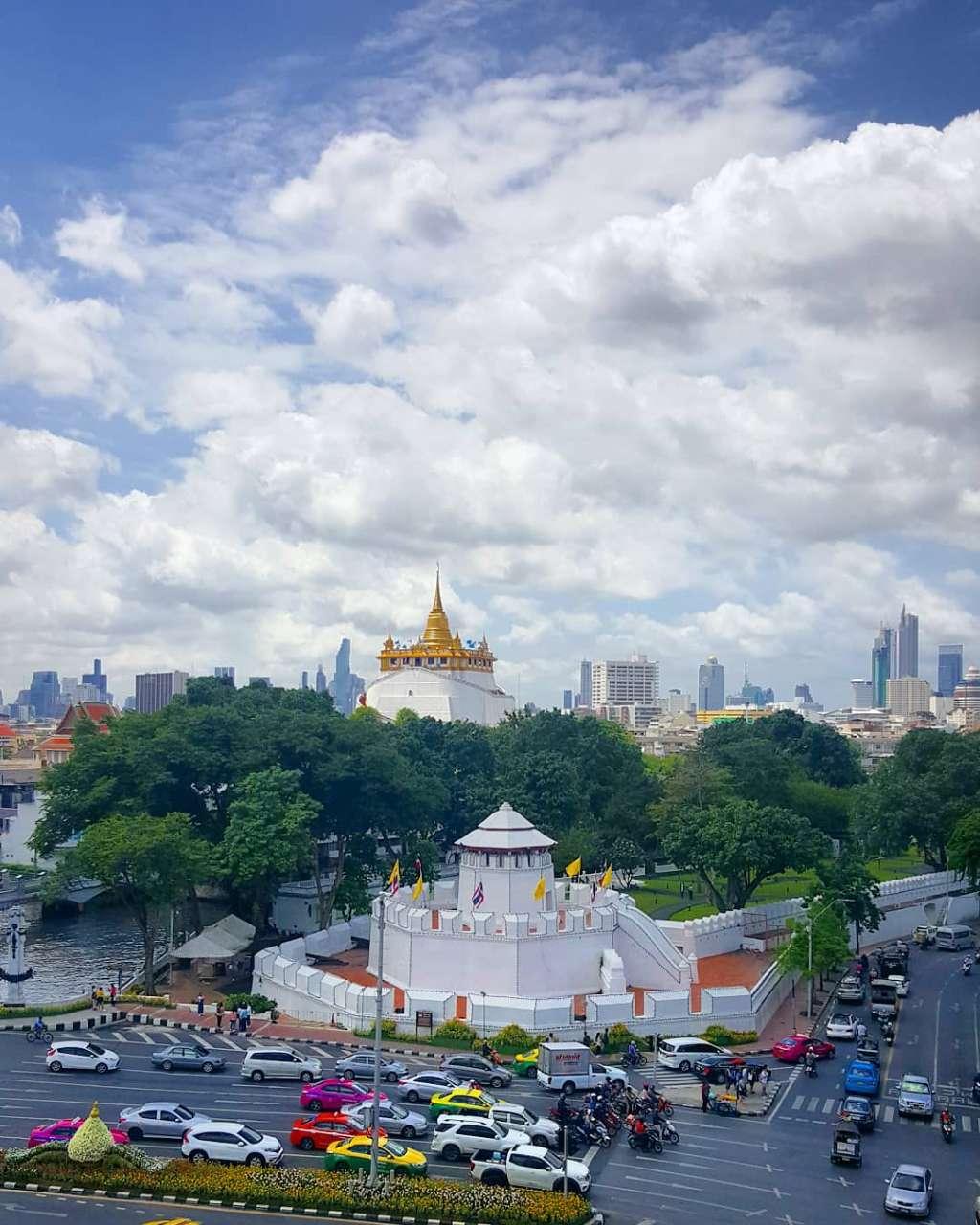 Uitzicht op de Golden Moun (Wat Saket) in Bangkok